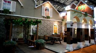 森泰塑木地面-展览设计,展台搭建