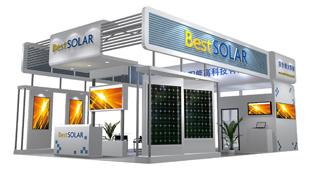 百事得太阳能-展览设计,展台搭建