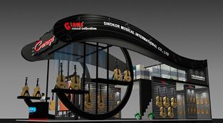 艺宝乐器-展览设计,展台搭建