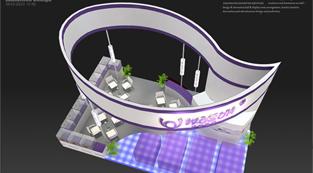 华盛医疗-展览设计,展台搭建