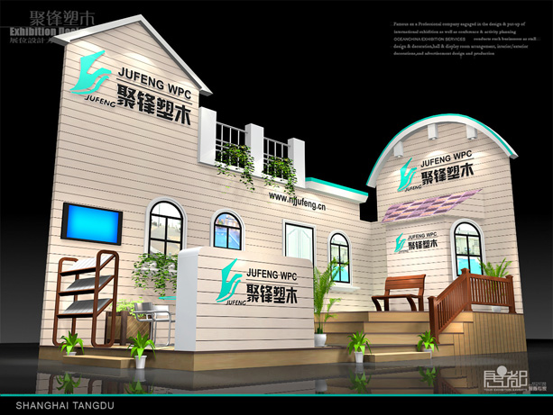 聚锋新材料-展览设计,展台搭建
