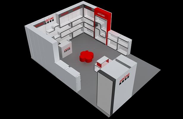 奥康集团-展览设计,展台搭建