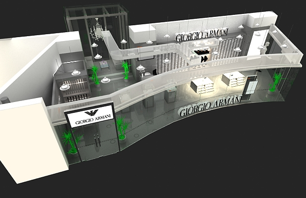 阿玛尼-展览设计,展台搭建