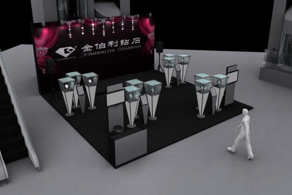 金伯利钻石-展览设计,展台搭建