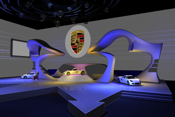 汽车地区巡展-展览设计,展台搭建